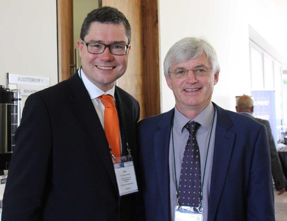 Prof Stan du Plessis and Arnold Smit